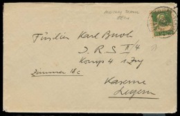 Switzerland - XX. 1925 (23 June). Luzern. Local Usage / Military Barrack Family Address. Fkd Env Wih Full Family Persona - Suiza