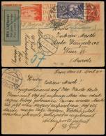 Switzerland - XX. 1924 (25 April). Bern - Austria. Stat View Card + Adtl. Air Label. Carried By Airmail. St Chenberg. Wi - Switzerland
