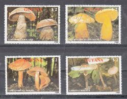 Guyana 1989 Mi Nr 2480 - 2483 Paddenstoelen, Mushroom (2) - Guyana (1966-...)