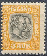 Iceland 1907 Official Stamp--Kings Christian IX & Frederik VIII MINT Lot#1 - Neufs