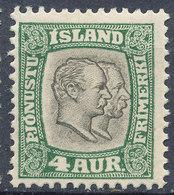Iceland 1907 Official Stamp--Kings Christian IX & Frederik VIII MINT Lot#2 - Neufs
