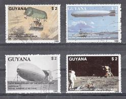 Guyana 1989 Mi Nr 2485 - 2488 Ferdinand Graf Von Zeppelin - Guyana (1966-...)