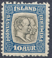 Iceland 1907 Official Stamp--Kings Christian IX & Frederik VIII MINT Lot#5 - Neufs