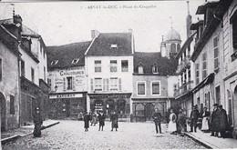 REPRODUCTION DE C P A---21----ARNAY LE DUC---place Du Crasquelin--voir 2 Scans - Aignay Le Duc