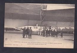 Luneville Groupe Officiers Pilotes Zeppelin S'amuse Pendant Qu'on Enquete De L'autre Côté ( Dirigeable Ed. Quantin) - Luneville