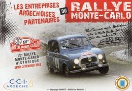 Rallye Monte-Carlo Historique 2012  -  Renault 4L - Equipage Ragnotti/Guigou -  CPM - Rally