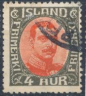Iceland 1920-31 4a Used Lot35 - Oblitérés