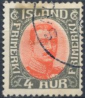 Iceland 1920-31 4a Used Lot37 - Oblitérés