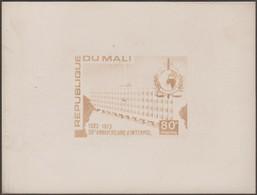 Mali 1973 Y&T 204. Épreuve Photo. Timbre Définitif Avec Logo Refait Et Signature Ajoutée. 50 Ans D'Interpol - Police - Gendarmerie