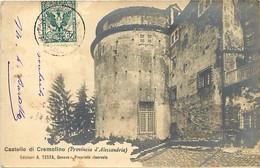 Pays Div- Ref M18- Italie - Italia - Italy - Castello Di Cremolino - Provincia D Alessandria - Carte Bon Etat  - - Non Classificati