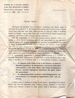 B 2059 - Don Vincenzo Cumino, Nostra Signora Del Carmine, Torino - Programmi
