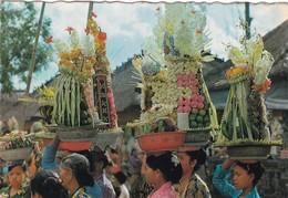 INDONESIA BALI MENBAWA SESAJEN2 BERWAMA WARNI KEPURA  VIAGGIATA - Indonesia