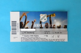 RIJEKA V FC SALZBURG - 2017. UEFA CHAMPIONS LEAGUE Qual. Football Match Ticket Soccer Fussball Billet Austria Osterreich - Eintrittskarten