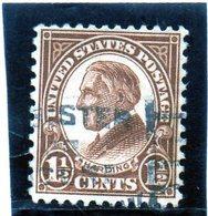 B - 1925 Stati Uniti - Harding - Stati Uniti