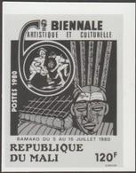 Mali 1980 Y&T 385. Épreuve Photo. Impression Par Points. Biennale Artistique Et Culturelle, Bamako. Masque Et Instrument - Music