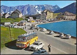 Switzerland 1966 / Gotthard Passhohe / Cars - Mercedes, VW / Bus / Tourism, Mountains - TI Ticino
