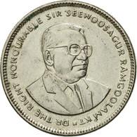 Monnaie, Mauritius, 20 Cents, 1990, TTB, Nickel Plated Steel, KM:53 - Mauritius