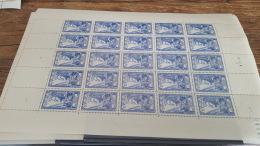LOT 409141 TIMBRE DE FRANCE  NEUF** LUXE  N°768 FEUILLE VALEUR 62,5 EUROS BLOC - Feuilles Complètes