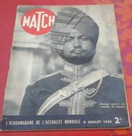 """Match  6 Juillet 1939 Sacha Guitry, Singapour Indes Anglaises, Rollet Capitaine """"Espadrille"""" Gueules Cassées - Livres, BD, Revues"""