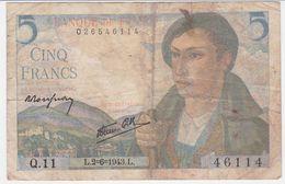 France P 98 A - 5 Francs 2.6.1943 - Fine+ - 1871-1952 Antichi Franchi Circolanti Nel XX Secolo