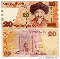 KYRGYZSTAN       20 Som       P-19       2002       UNC - Kirghizistan