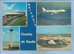Roissy-en-France (95) Aéroport Charles-de-Gaulle 2 Scans Avion Air France Aérogare Tour De Contrôle - Roissy En France