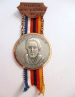 MEDAILLE 3 EME REGIMENT DE HUSSARDS COMTE ESTERHAZY PFORZHEIM 14E INT VOLKSMARSCH 1985 BLEU BLANC ROUGE NOIR ROUGE JAUNE - Germany