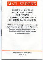 ESPERANTO)  MAU ZEDONG - LIVRET  20 PAGES PAPIER GLACE ETAT NEUF   1968 PEKIN - Books, Magazines, Comics