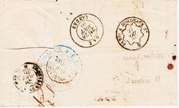France, De Saint Quentin à Dax , Ambulant Paris à Bordeaux 2° Rapide , En 1860 TB - Marcophilie (Lettres)