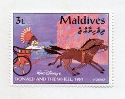 Maldive - 1961 - Francobollo Tematica Disney - Donald And The Wheel - Nuovo - (FDC11067) - Maldive (1965-...)