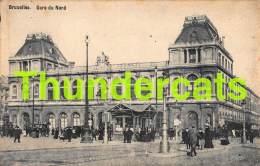 CPA BRUXELLES GARE DU NORD - Spoorwegen, Stations