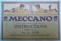 MECCANO - Instructions - Livre N°1 - Meccano