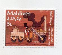 Maldive - 1961 - Francobollo Tematica Disney - Donald And The Wheel - Nuovo - (FDC11069) - Maldive (1965-...)