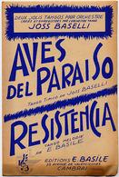 """{09122} Partitions """" Aves Del Paraiso ; Resistencia """".   """" En Baisse """" - Music & Instruments"""