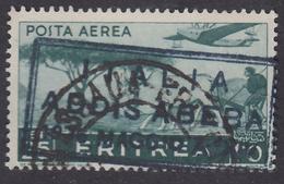 Eritrea: ITALIA ADDISABEBA 1936 MAGGIO A XIV - POSTA AEREA Soggetti Africani 25 C. Verde - 1936 - Eritrea