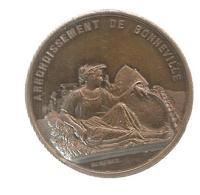 Medaille, Arrondissement De Bonneville, Haute Savoie , Société D'agriculture Et De Commerce, 2 Scans ,frais Fr 2.85 E - Professionals / Firms