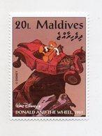 Maldive - 1961 - Francobollo Tematica Disney - Donald And The Wheel - Nuovo - (FDC11071) - Maldive (1965-...)