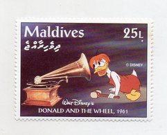 Maldive - 1961 - Francobollo Tematica Disney - Donald And The Wheel - Nuovo - (FDC11072) - Maldive (1965-...)
