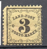 1870 BADEN TAXE  3 K. - Bade