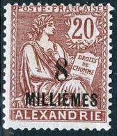 ALESSANDRIA, FRANCIA, FRANCE, TERRITORI FRANCESI, 1921, FRANCOBOLLI NUOVI (MLH*), TIPO BLANC  Michel 39    Scott 53 - Alexandria (1899-1931)