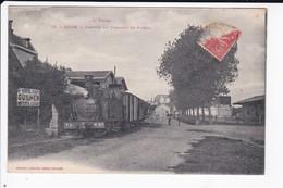 BRAM - ARRIVEE DU TRAMWAY DE SAISSAC - 11 - Bram