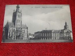 TIENEN -  TIRLEMONT  -  Eglise Notre Dame Et L'Hôtel De Ville - Tienen
