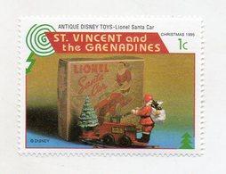 St. Vincent And The Grenadine - 1995 - Natale - Francobollo Tematica Disney - Antique Disney Toys - Nuovo - (FDC11073) - St.Vincent E Grenadine