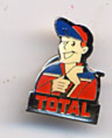 "{09951} Pin's "" Total "" (b)   "" En Baisse "" - Brandstoffen"