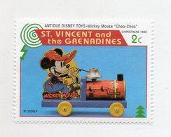 St. Vincent And The Grenadine - 1995 - Natale - Francobollo Tematica Disney - Antique Disney Toys - Nuovo - (FDC11074) - St.Vincent E Grenadine