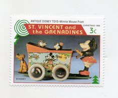 St. Vincent And The Grenadine - 1995 - Natale - Francobollo Tematica Disney - Antique Disney Toys - Nuovo - (FDC11075) - St.Vincent E Grenadine