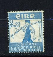 IRELAND  -  1931  Royal Dublin Society  2d  Mounted/Lightly Hinged Mint - Nuovi
