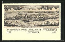 AK Göttingen, 200 Jahre Georg August-Universität, Ortsansicht Anno 1737 Und 1937 - Goettingen