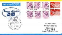 Vol équipe Olympique Italienne Rome Pekin - Air China Alitalia 31/07/08 - Ete 2008: Pékin