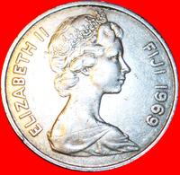 # CACHALOT TOOTH: FIJI ★ 20 CENTS 1969! FLAT DESIGN! LOW START ★ NO RESERVE! - Figi
